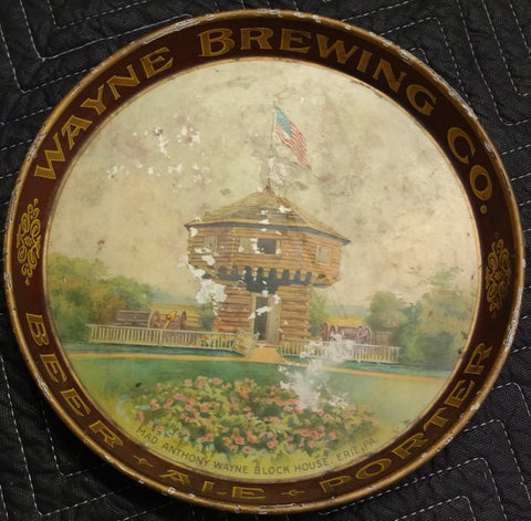 Wayne Brewing Co. Beer - Ale - Porter Beer Tray from Erie, Pennsylvania - Old & Original