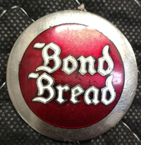 Bond Bread Bakery Delivery Drivers Hat Badge - Enamel Inlay - Old & Original