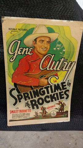 "Gene Autry ""Springtime In The Rockies"" Original Movie Poster"