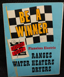 "Reddy Kilowatt ""Be A Winner"" Sign - Old & Original"