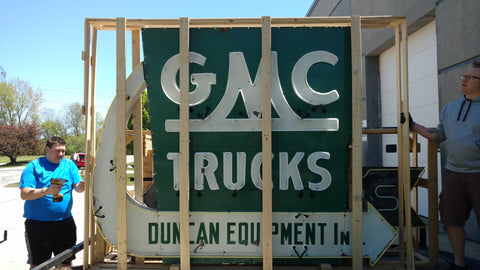 GMC Truck Neon Sign - Porcelain Neon Sign For Sale