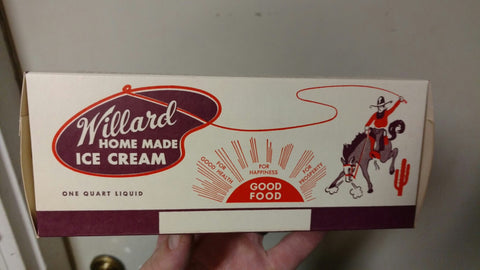 Willard Ice Cream Container, Columbus, Ohio - Vintage 1950's-60's
