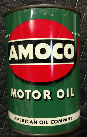 AMOCO 1940's Metal Quart Motor Oil Can - Old & Original