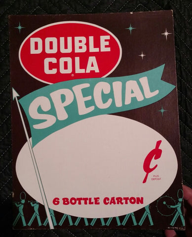Vintage Double Cola Soda Sign Special With Marching Band - 1960's