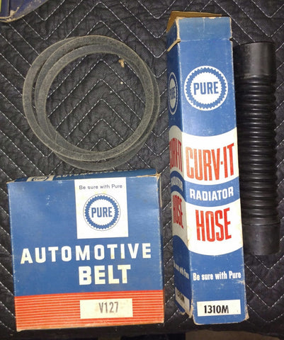 Pure Oil Company Automotive Belt & Radiator Hose Items - 1960's Old & Original