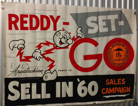 Reddy Kilowatt Large 1960 Sales Contest Poster