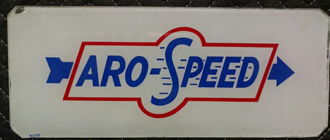Aro Flight Gas Pump Ad Glass For Vintage Wayne Gas Pump