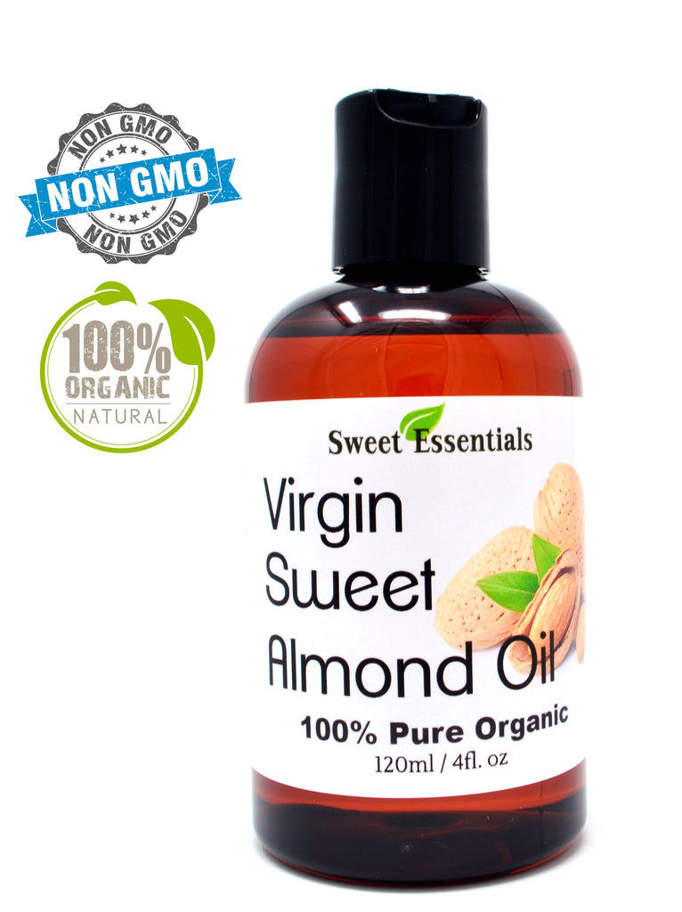 100% Pure Organic Sweet Almond Oil | Unrefined / Virgin | Imported From Italy