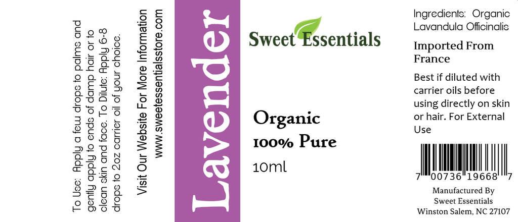 Pure Organic Lavender Essential Oil - Imported From France