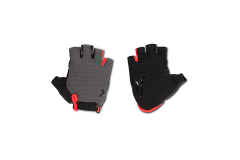 Guantes Cortos CUBE Natural Fit - Grey'n'red