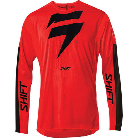 Jersey SHIFT 3Lack Label Race 1 Rojo Manga Larga