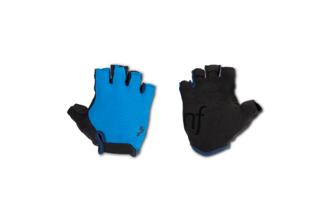 Guantes Cortos CUBE Natural Fit - Black'n'blue