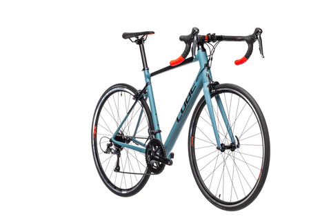Bicicleta de Ruta CUBE Attain - 2021 - Greyblue n red