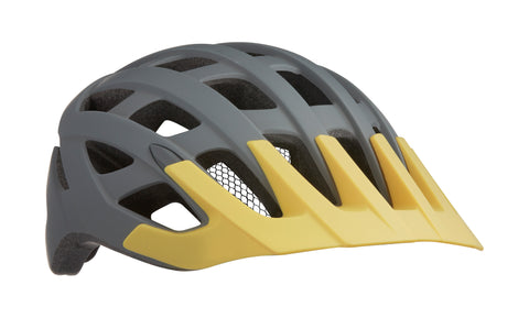 Casco Lazer Roller color Gris Matte/Amarillo Red Frontal
