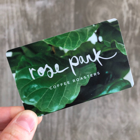Coffee Shop Gift Cards