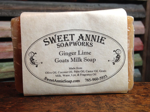 Ginger Lime Goats Milk Soap
