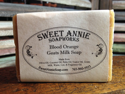 Blood Orange Goats Milk Soap