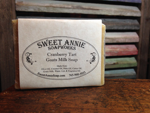 Cranberry Tart Goats Milk Soap