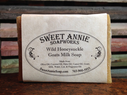 Wild Honeysuckle Goats Milk Soap