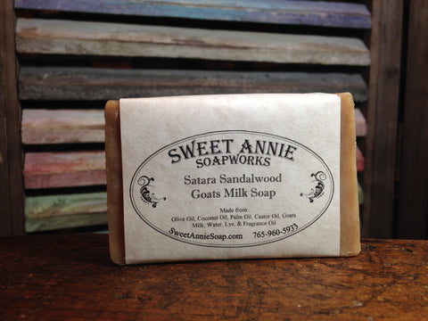 Satara Sandalwood Goats Milk Soap