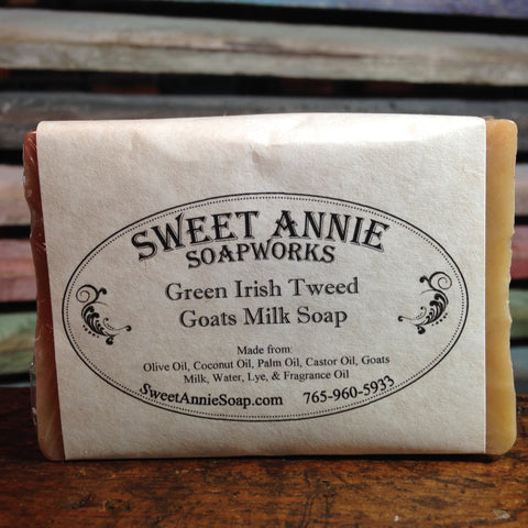 Green Irish Tweed Goats Milk Soap