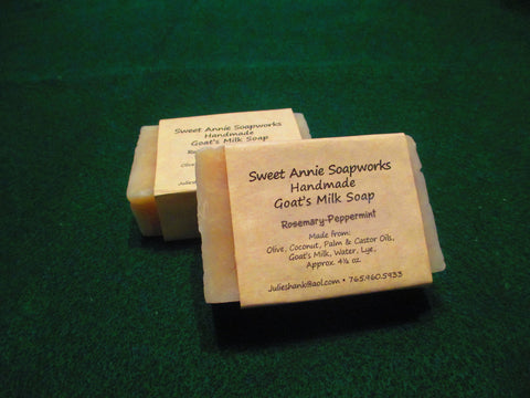 Rosemary & Peppermint Goats Milk Soap