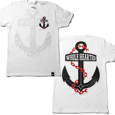 Whole Hearted Anchor Unisex Tee White
