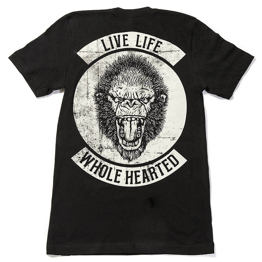 Live Life Whole Hearted Gorilla Tee