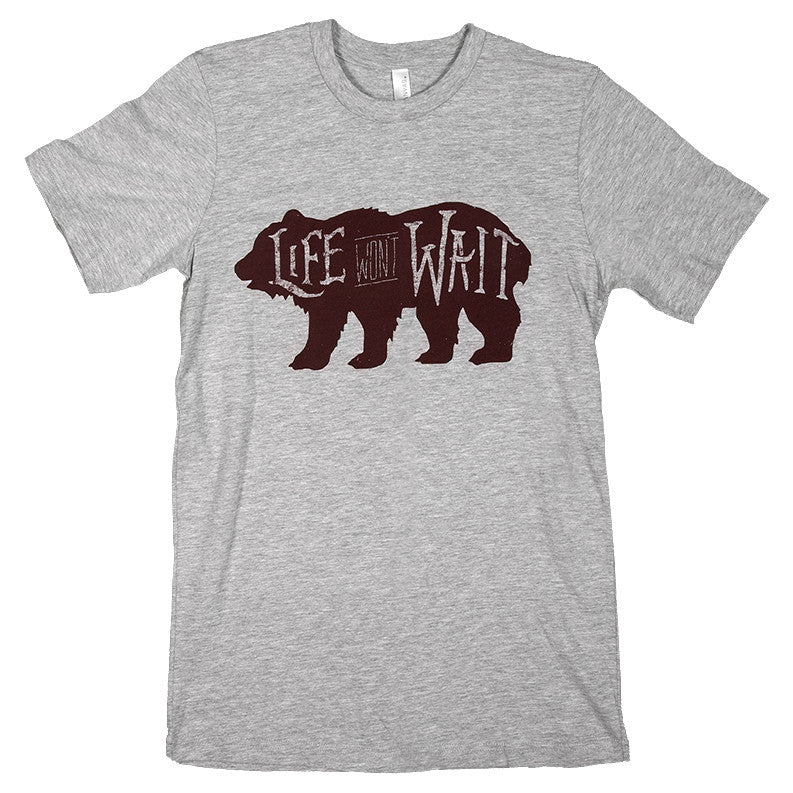 Life Won't Wait California Bear Tee