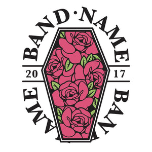 'Roses Coffin' Band Design