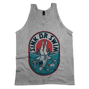 Sink Or Swim Tank Top Athletic Grey