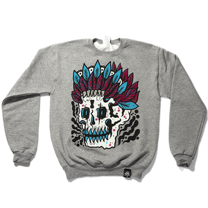 'Feather Skull Crewneck'