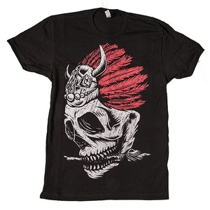 Whole Hearted Arrow Skull Unisex Tee Black