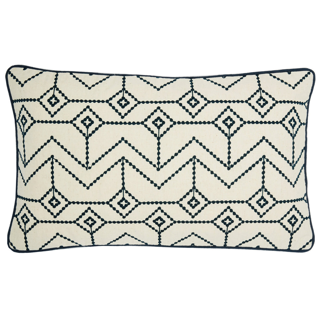 Ludlow dots navy  12x20 cushion