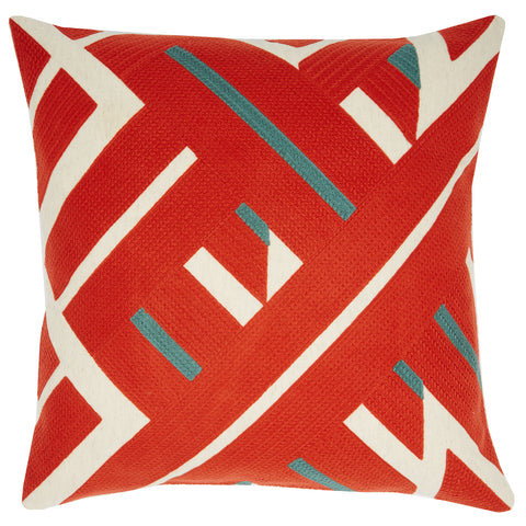 Diagonal lines orange, 22x22, cushion