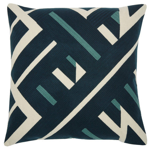 Diagonal lines navy, 22x22, cushion