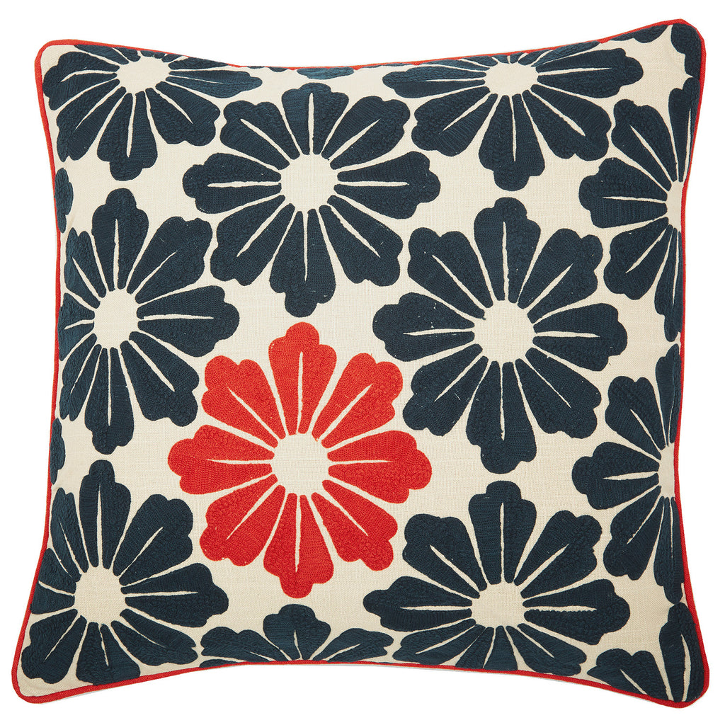 Dragon flower orange 22x22, cushion