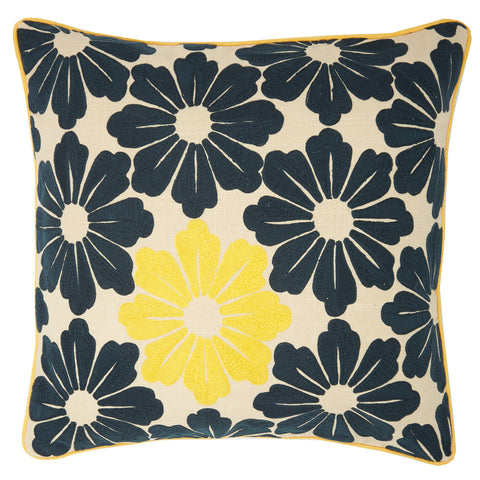 Dragon flower yellow 22x22, cushion