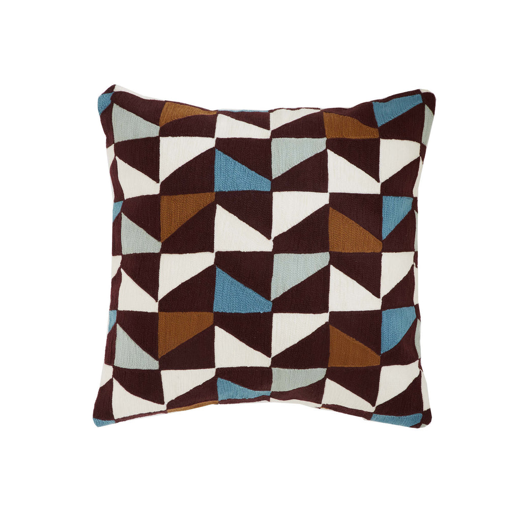 Blocks Blue  18x18 cushion