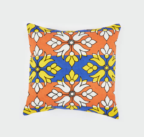 Flower Diamond orange 18x18 cushion