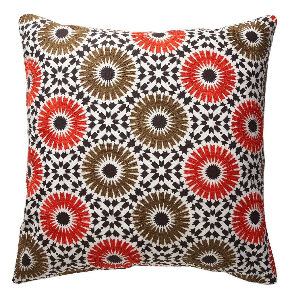 Winter Garden orange 24x24 pillow