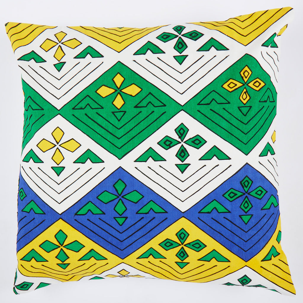 Green Flower 24x24 cushion