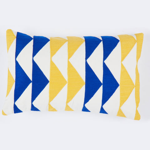 Marble Yellow pillow 12x20 cushion