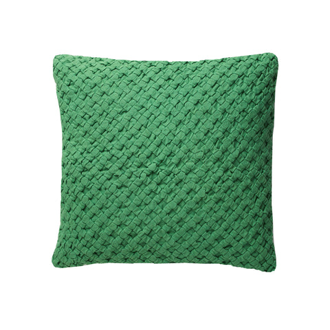 Pleated Light Green 18x18 cushion