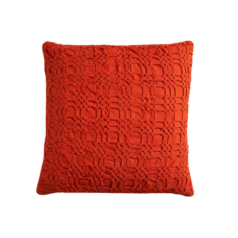 Pleated orange 18x18 cushion