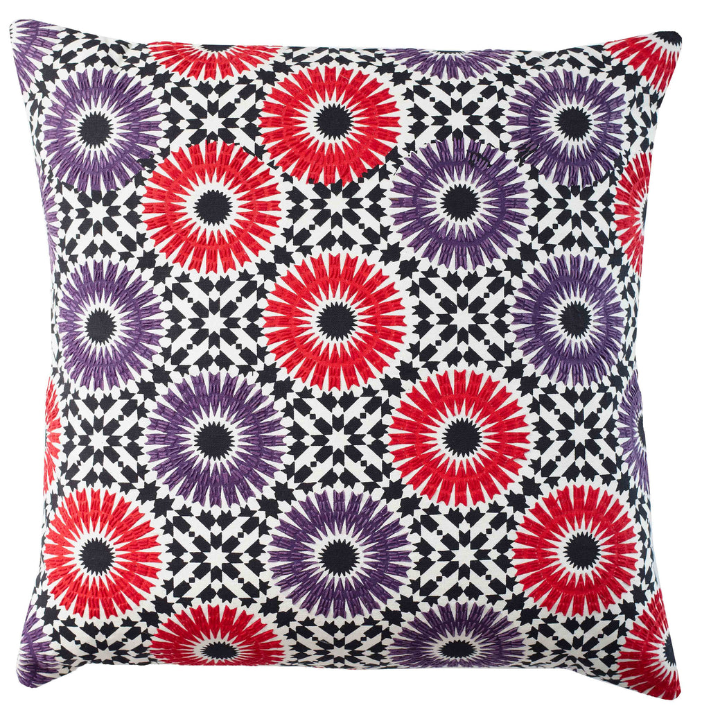Winter Garden Plum 18x18 cushion