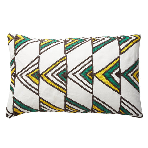 Zambia Green 12x20 cushion