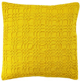 Liam Yellow 18x18in cushion