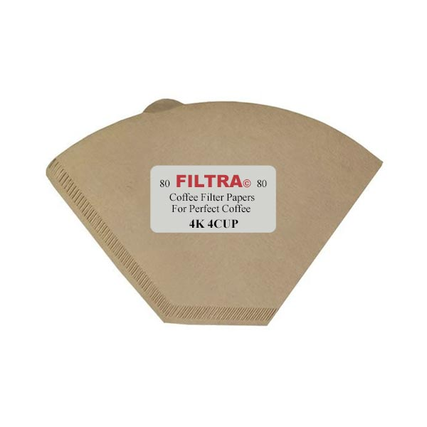 Filtra Unbleached Filter Papers - 4 Cup
