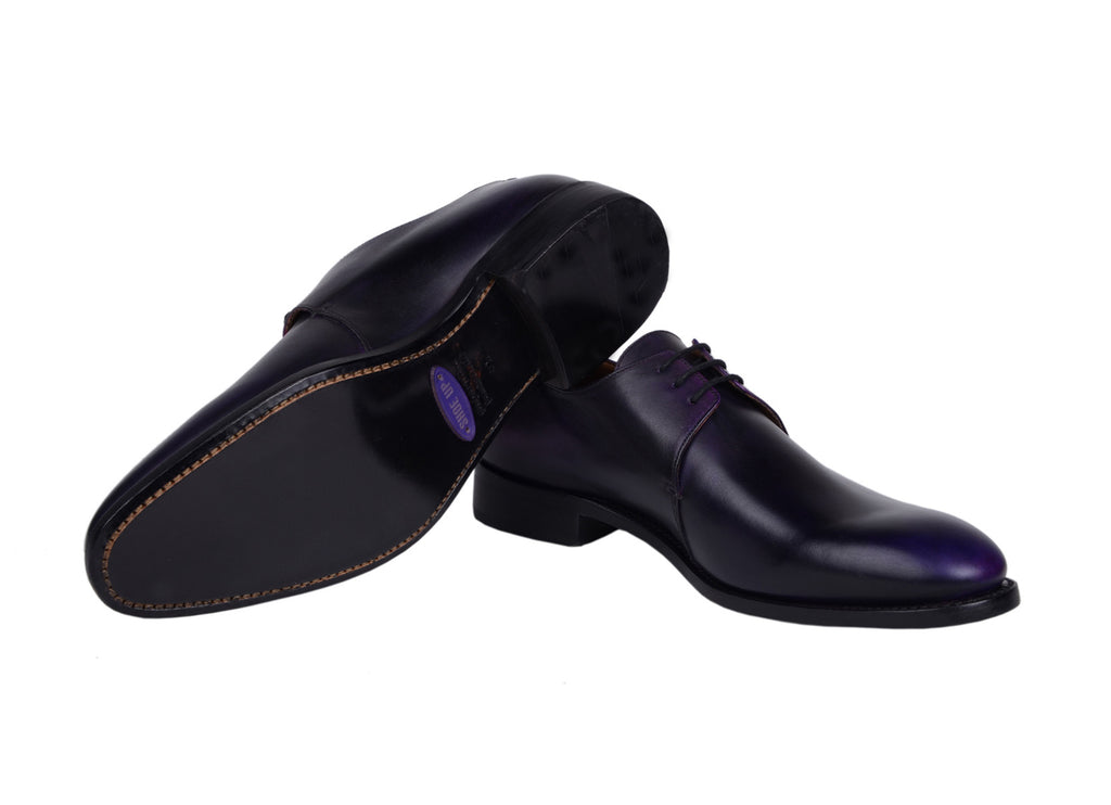 Derby Tony - patine Aubergine